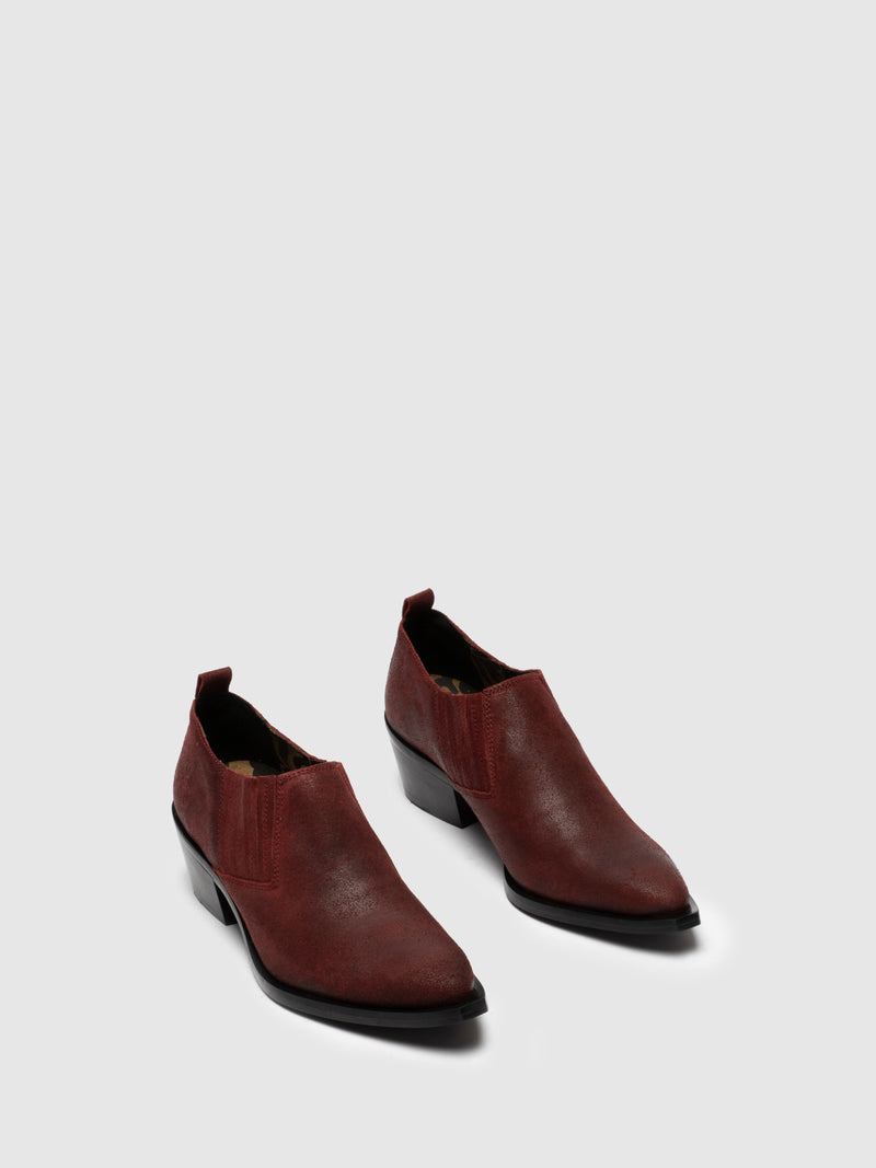 Fly London DarkRed Elasticated Shoes