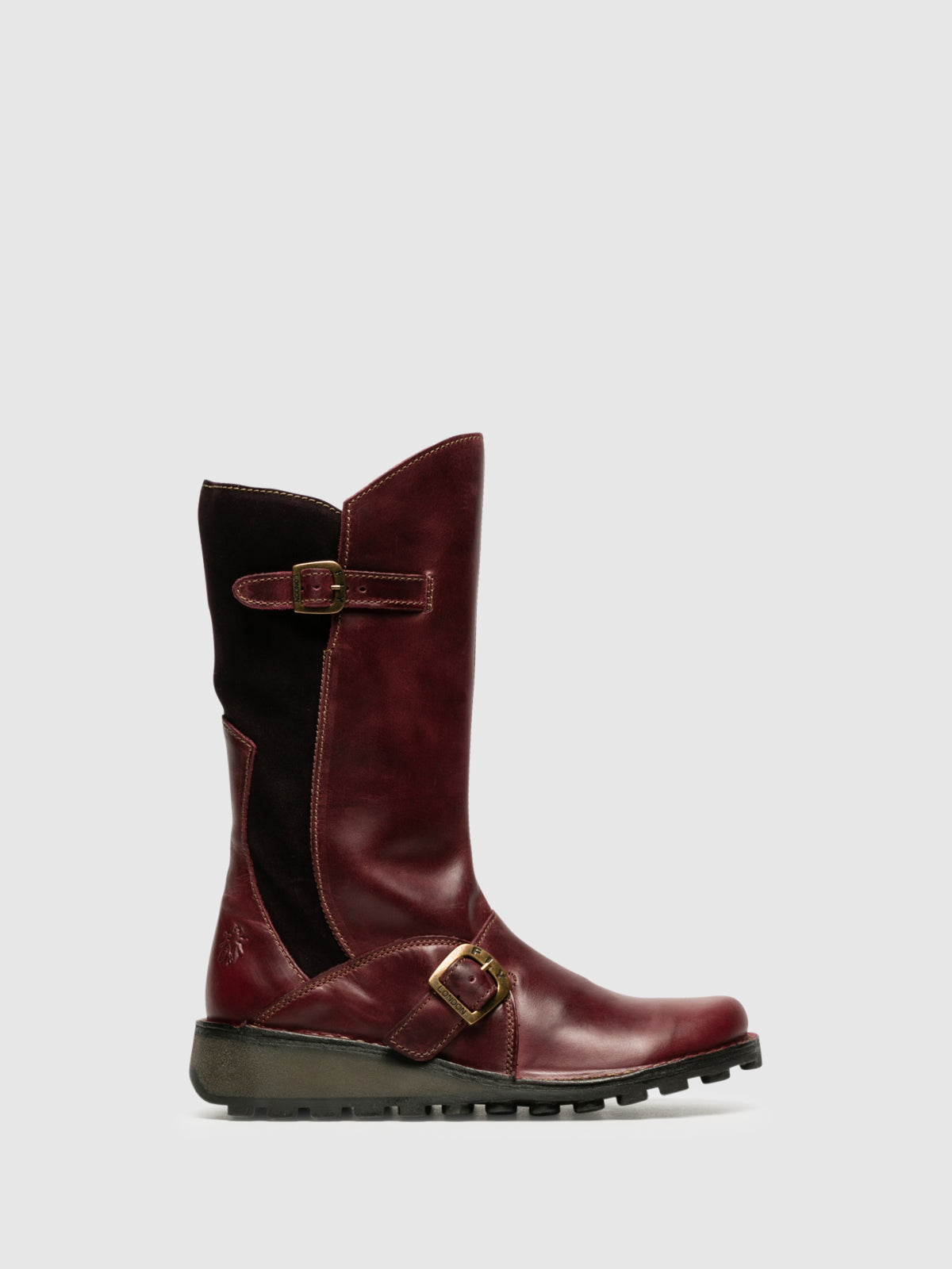Fly London DarkRed Buckle Boots