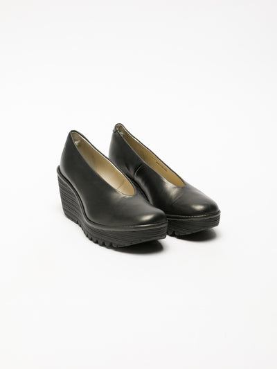 Fly London SandyBrown Wedge Shoes