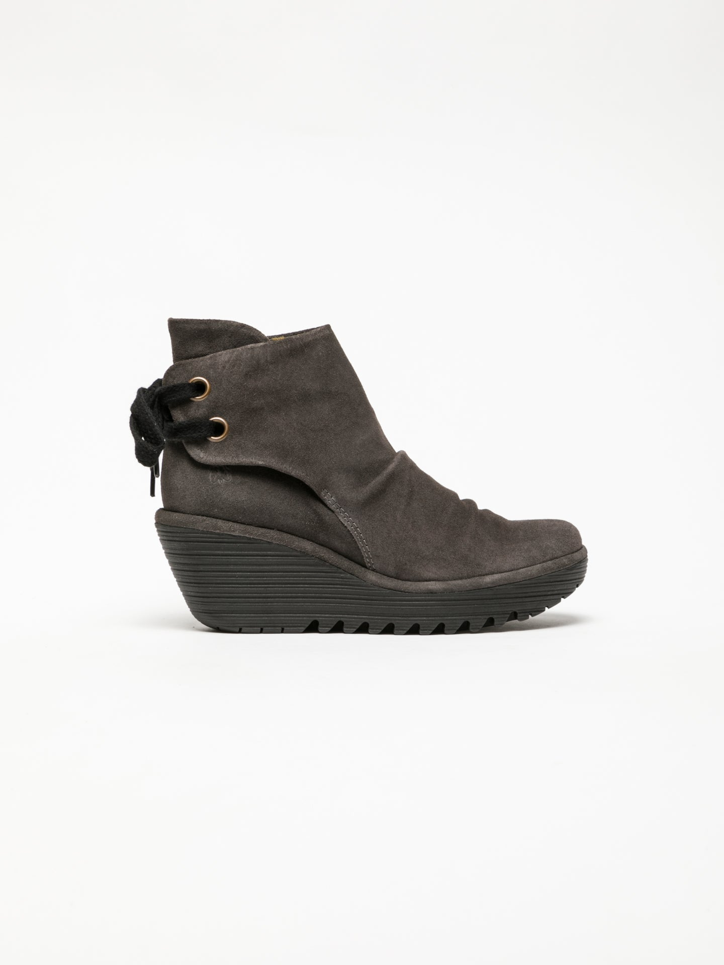 Fly London DarkGray Wedge Ankle Boots