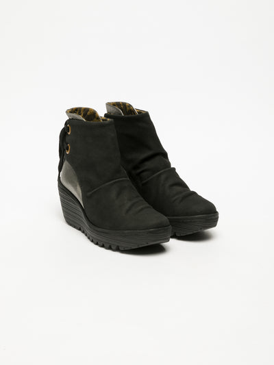 Fly London Multicolor Wedge Ankle Boots