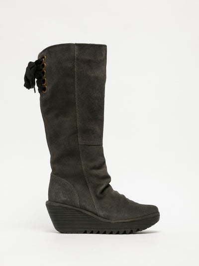 Fly London Gray Knee-High Boots