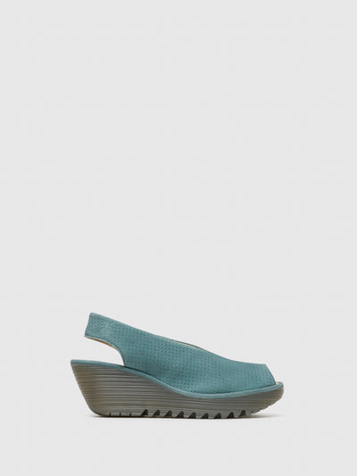 Fly London LightBlue Sling-Back Sandals