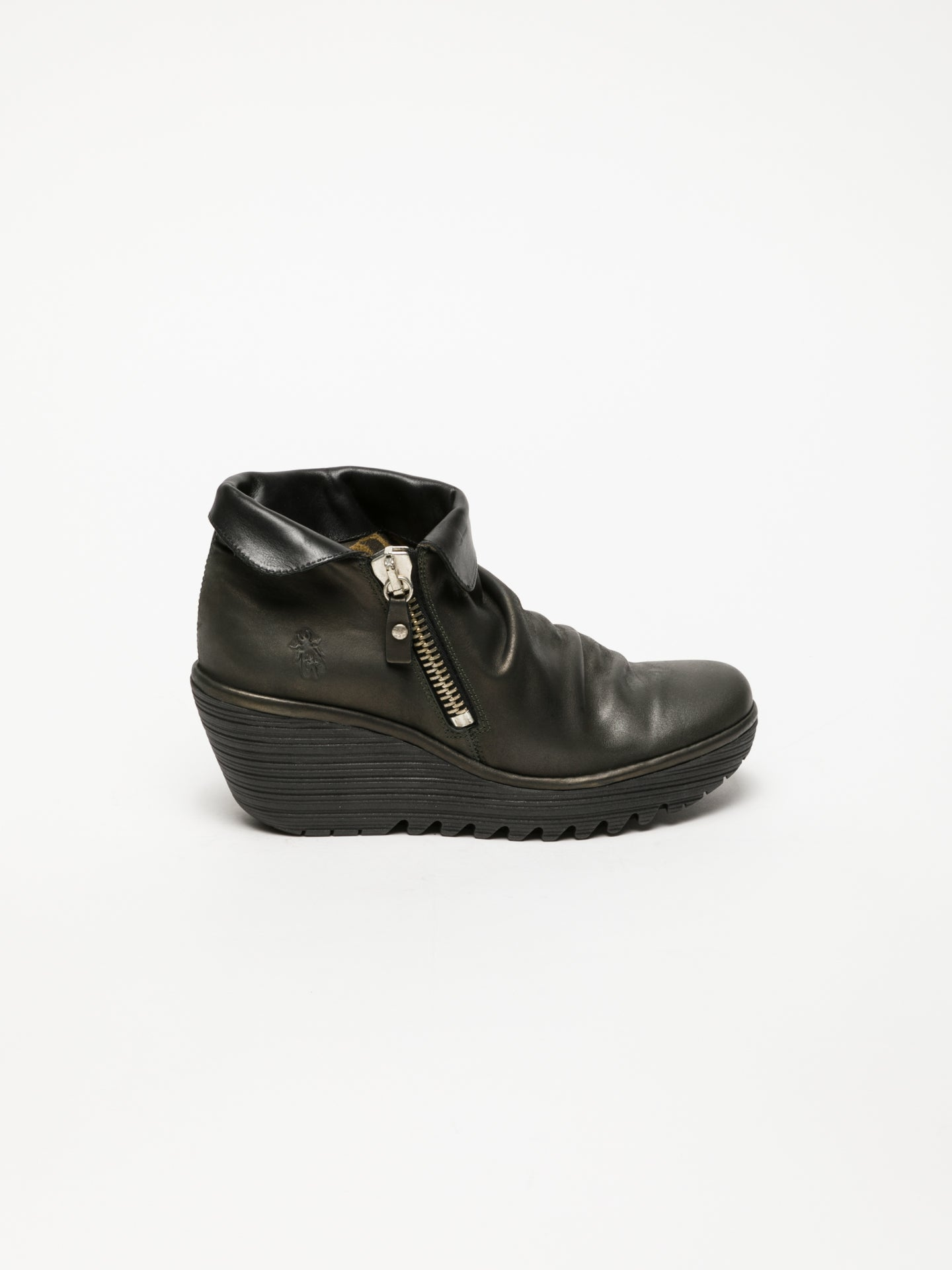 Fly London DarkGray Zip Up Ankle Boots