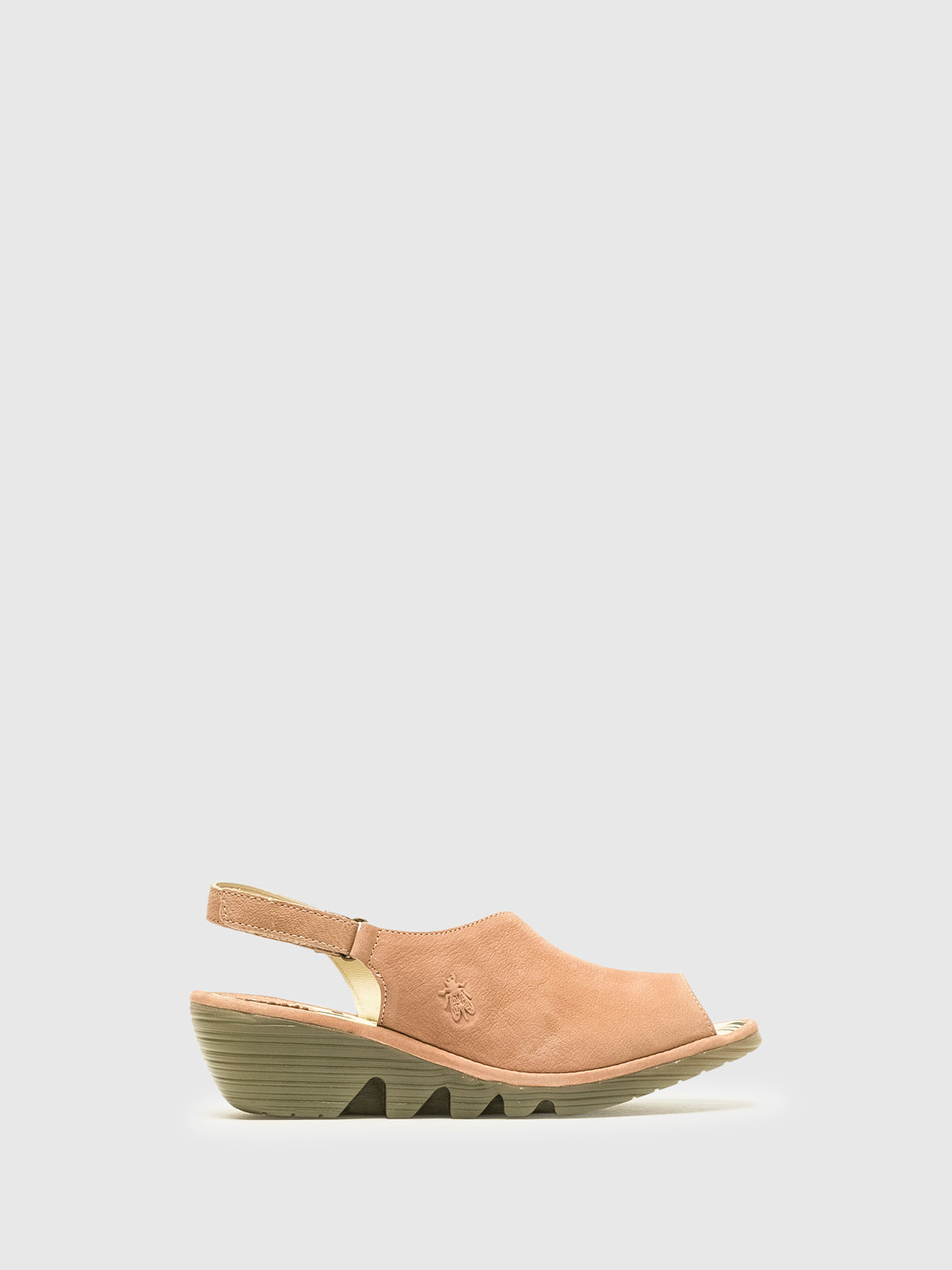 Fly London Pink Velcro Sandals