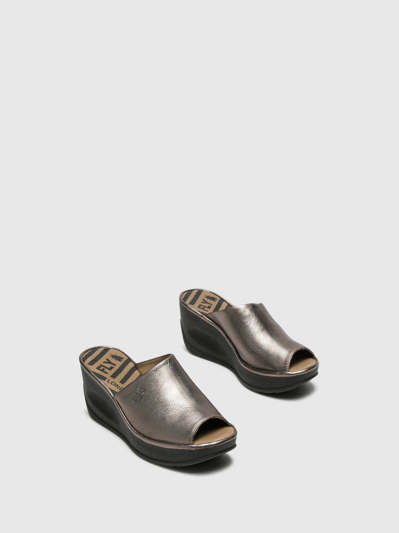 Silver Wedge Mules