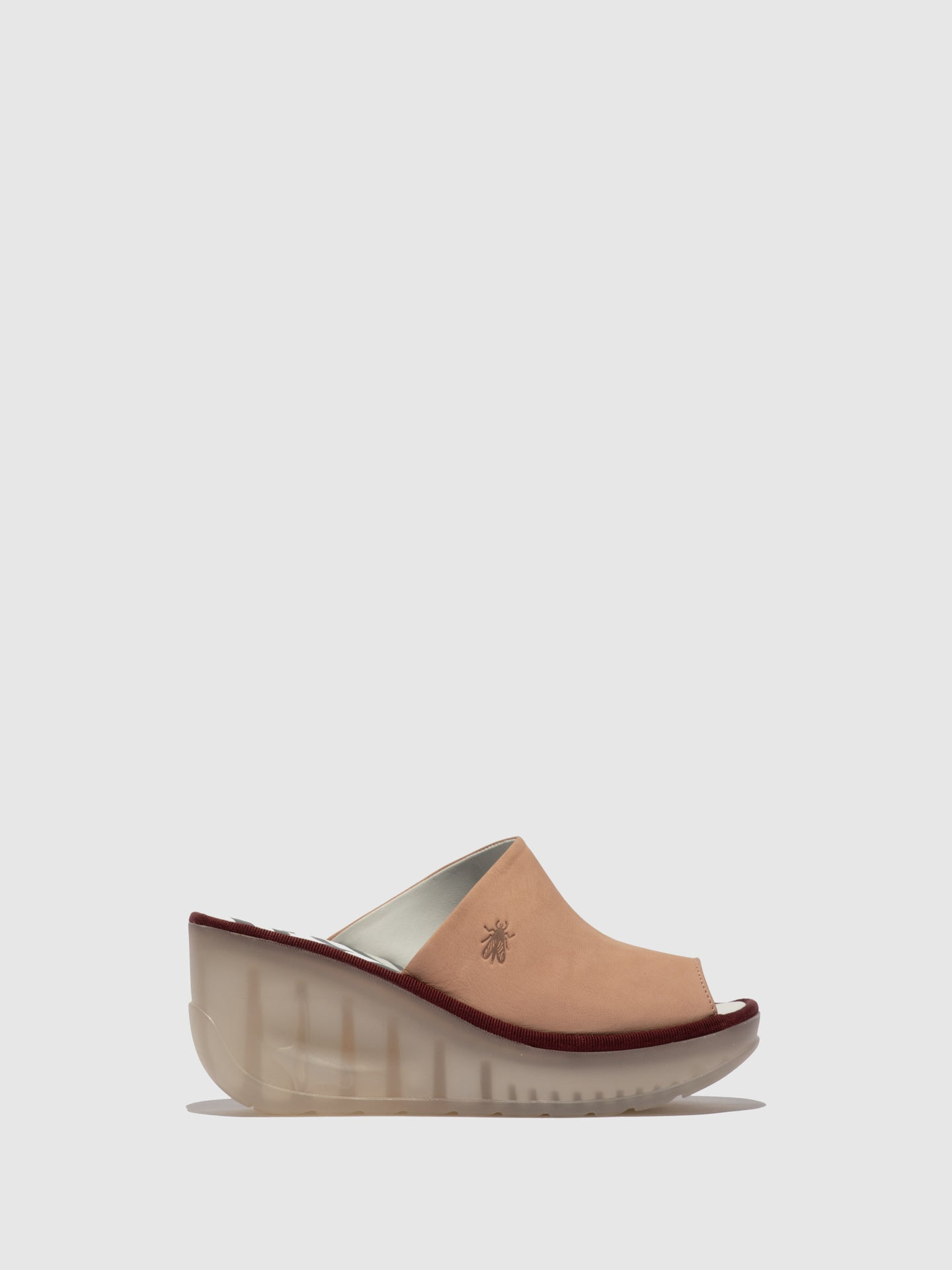 Fly London Pink Wedge Mules