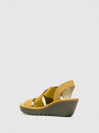 Fly London Yellow Strappy Sandals