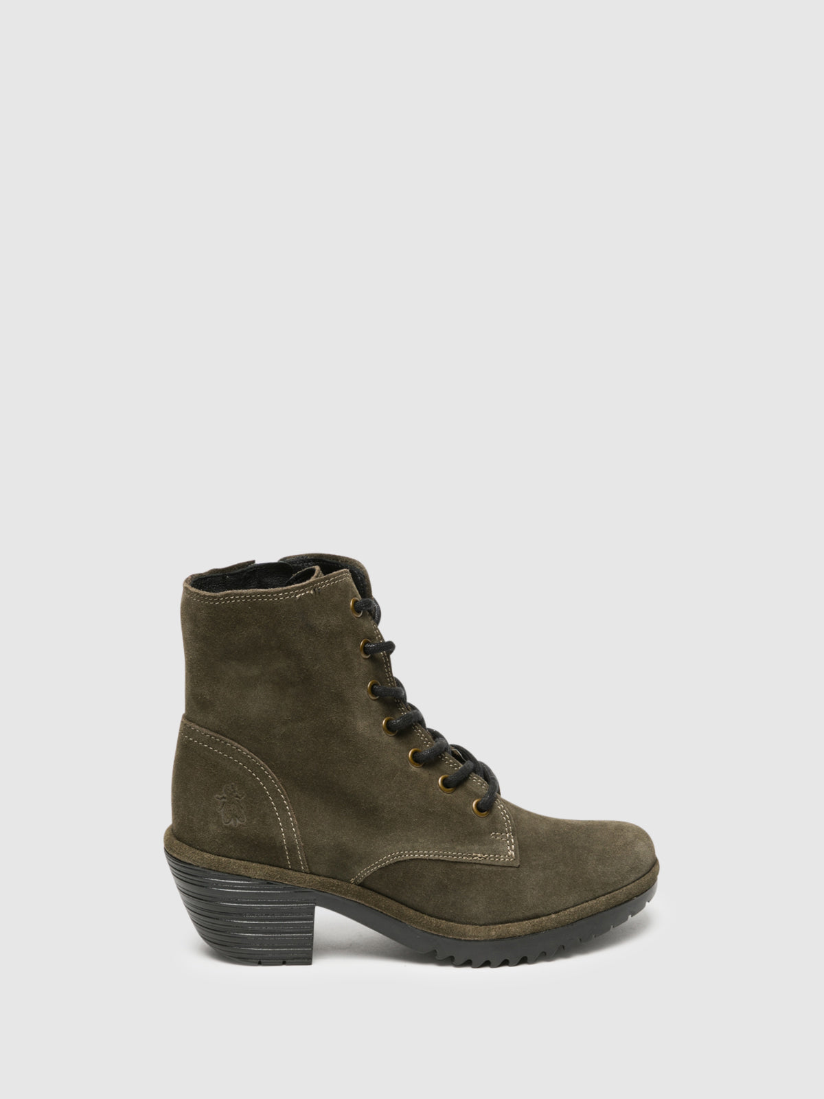 Fly London Khaki Lace-up Ankle Boots