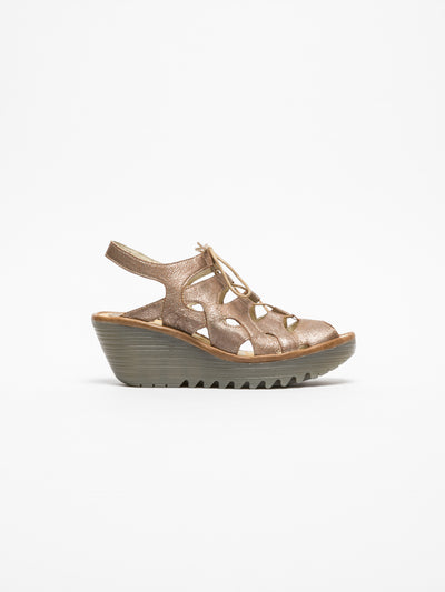 Fly London PeachPuff Gladiator Sandals