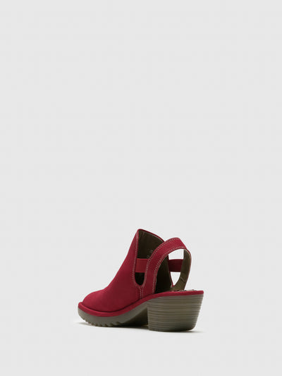 Fly London Red Sling-Back Sandals