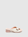 Fly London White Chunky Heel Mules