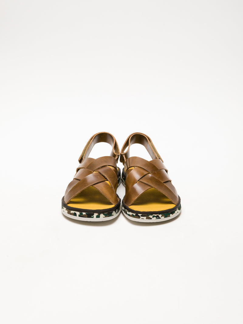 Brown Velcro Sandals