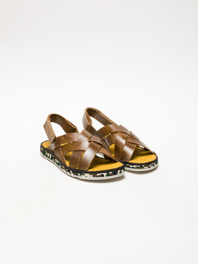 Fly London Brown Velcro Sandals