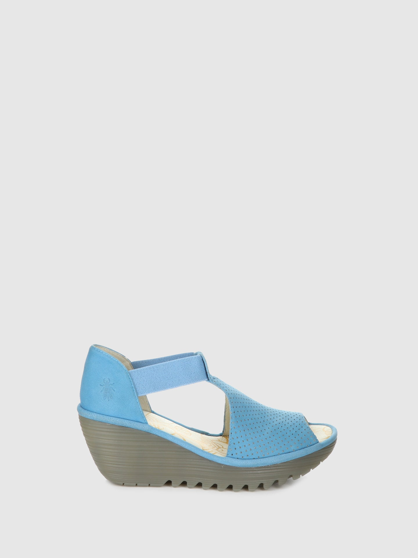 Fly London Blue Wedge Sandals