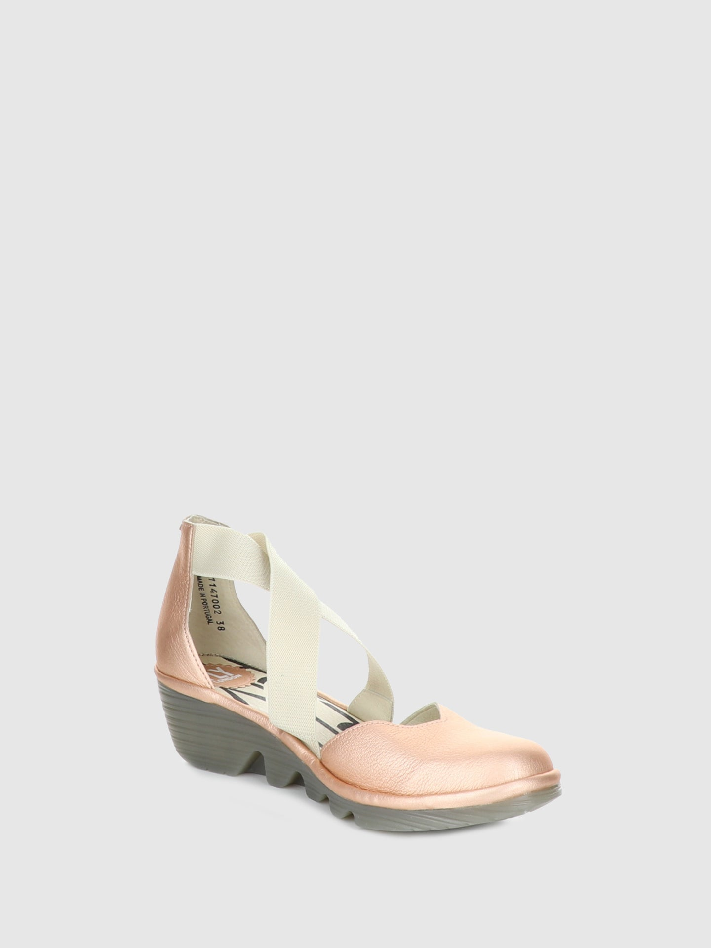 Fly London RoseGold Crossover Sandals