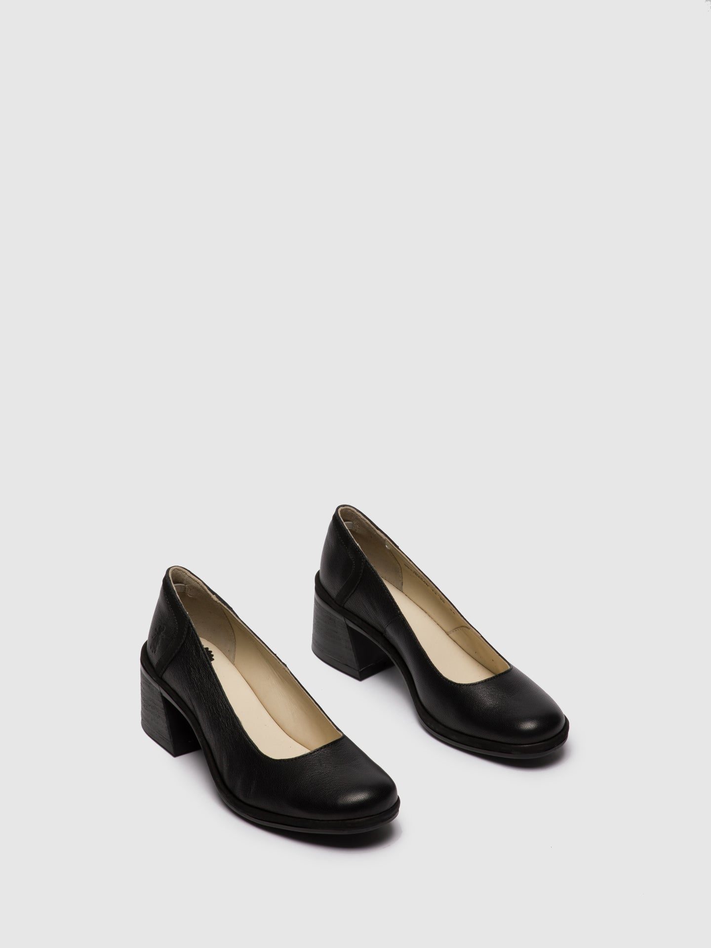 Fly London Black Chunky Heel Shoes