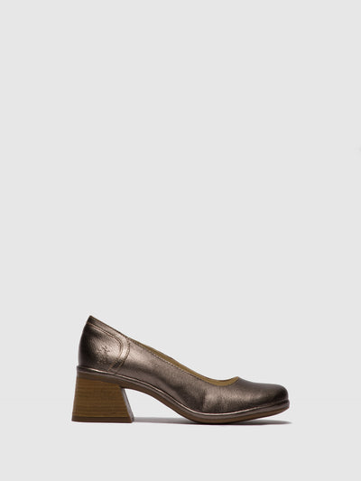 Fly London SandyBrown Chunky Heel Shoes