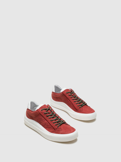 Fly London DarkRed Lace-up Sneakers