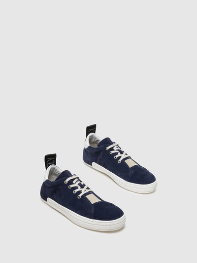 Fly London Navy Lace-up Sneakers