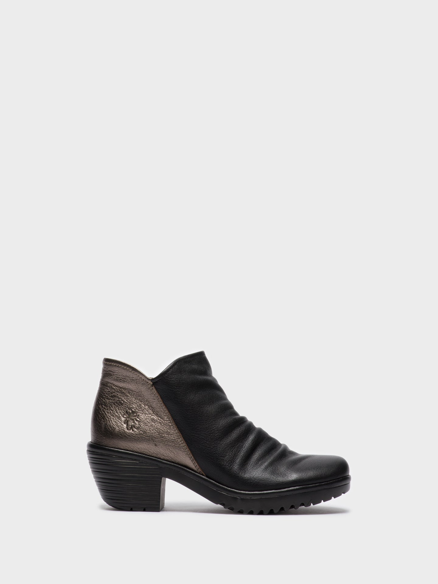 Fly London Brown Black Zip Up Ankle Boots