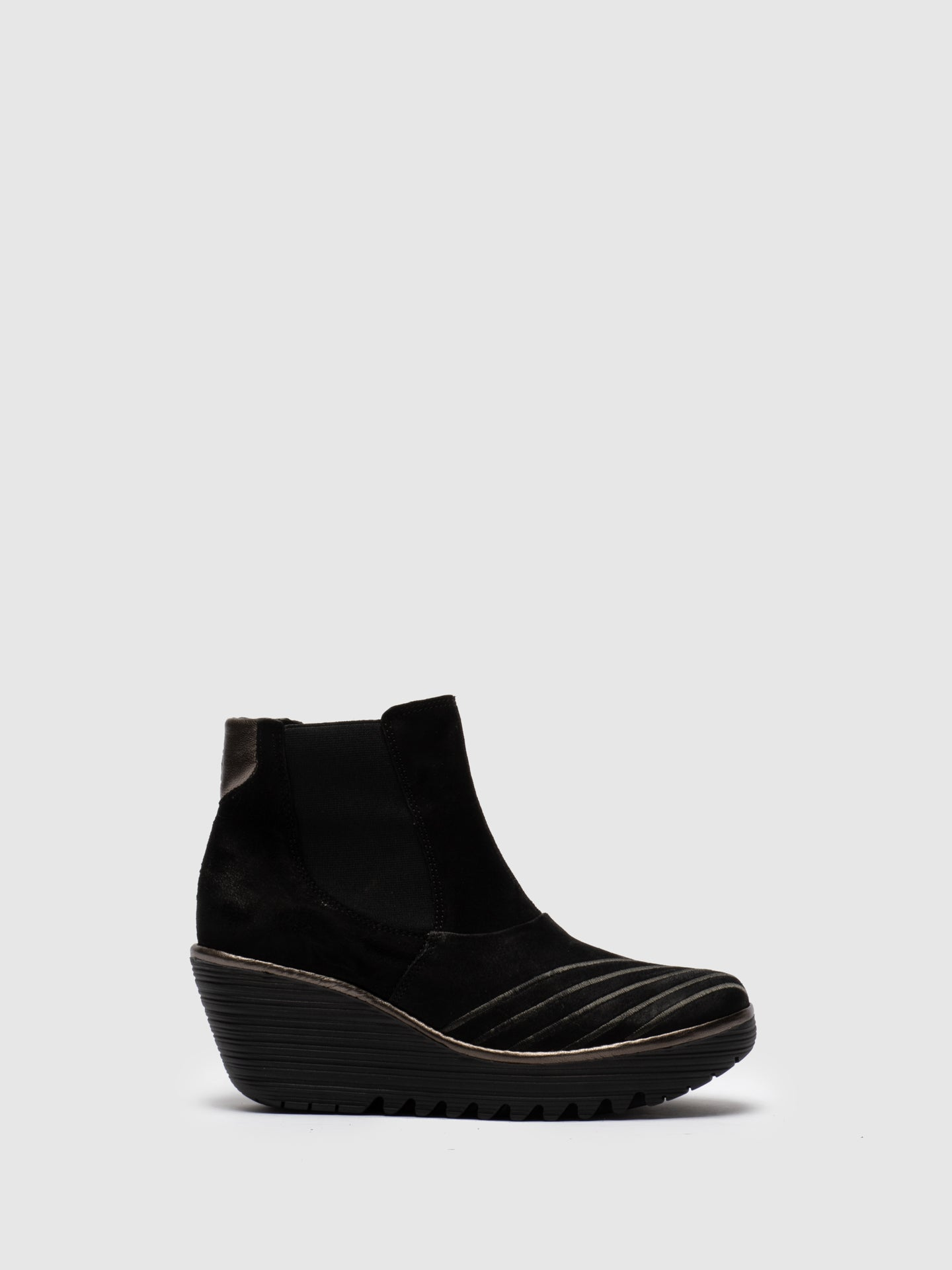 Fly London Brown Black Chelsea Ankle Boots