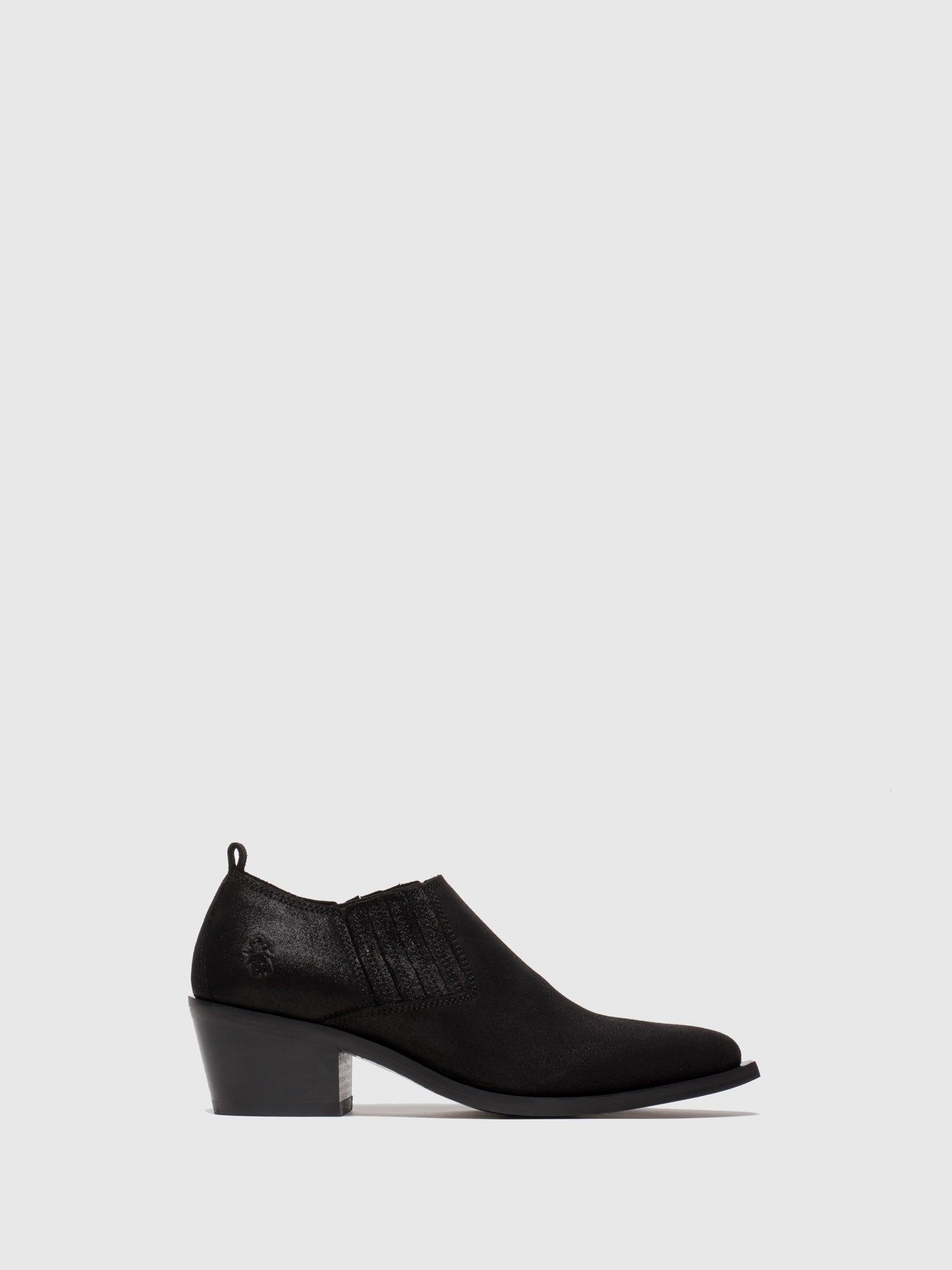 Fly London Coal Black Elasticated Shoes