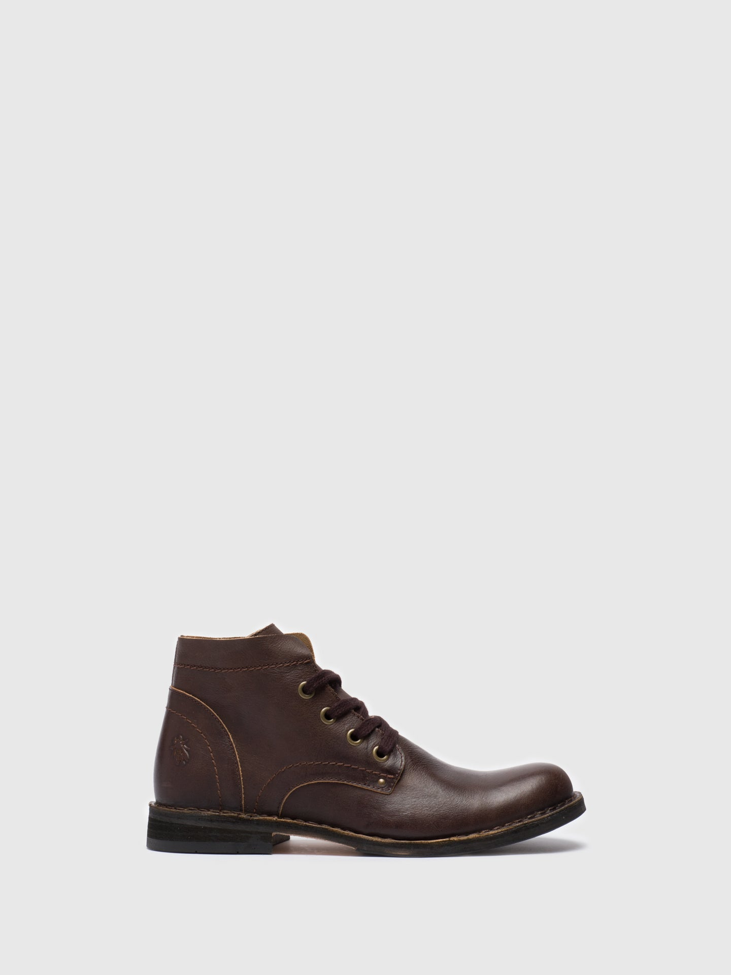 Fly London Brown Lace-up Ankle Boots
