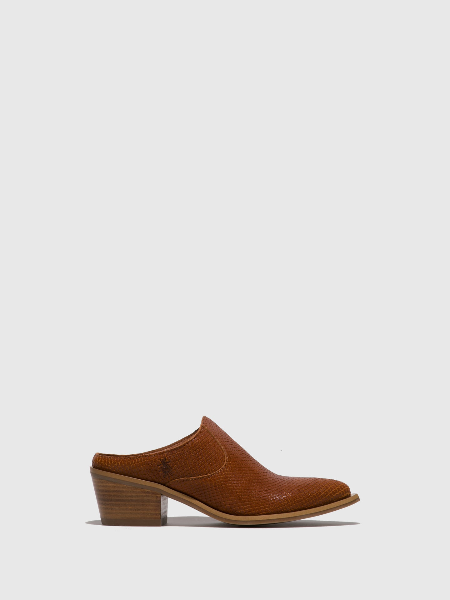 Fly London Brown Closed Mules