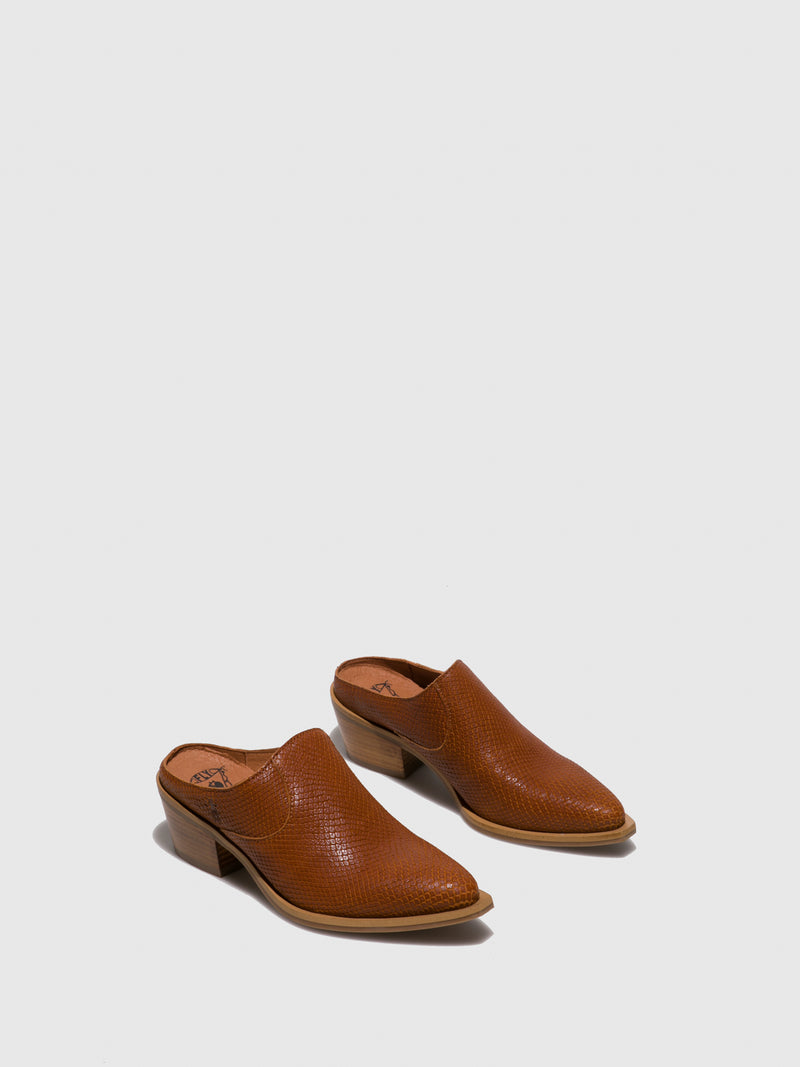 Brown Closed Mules