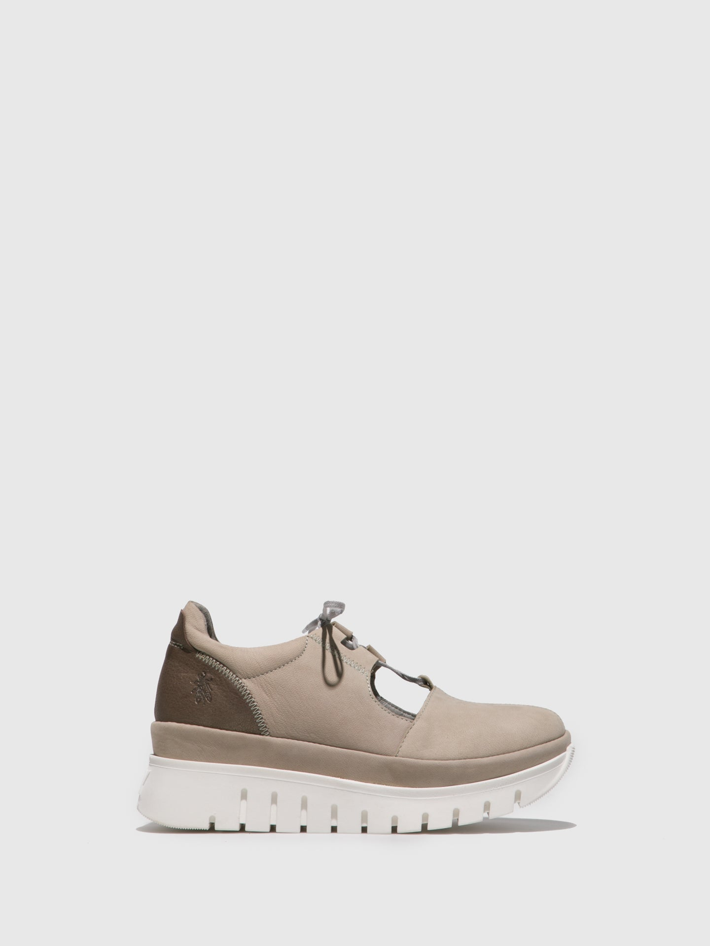 Fly London Beige Lace-up Shoes