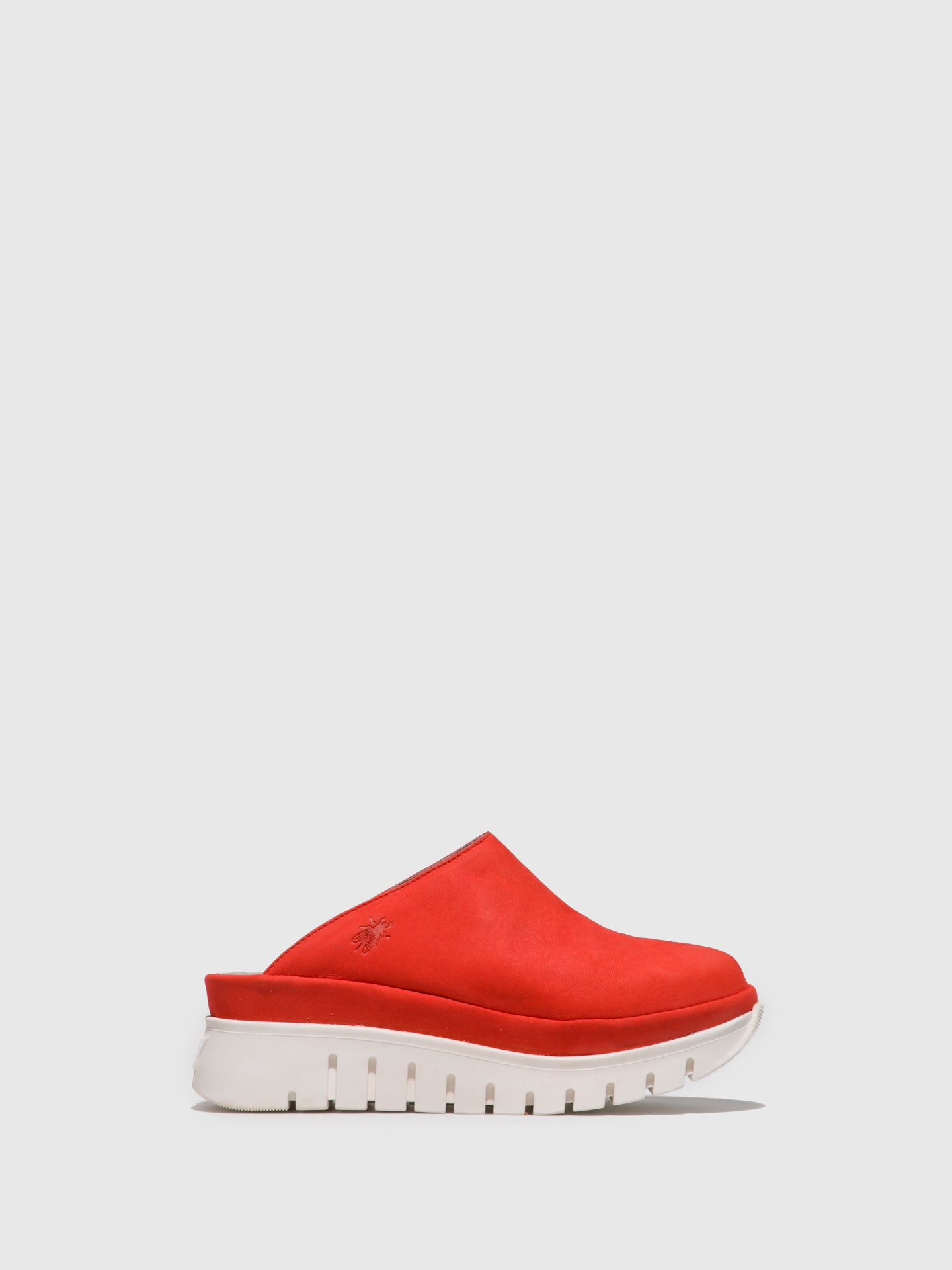 Fly London Red Closed Mules