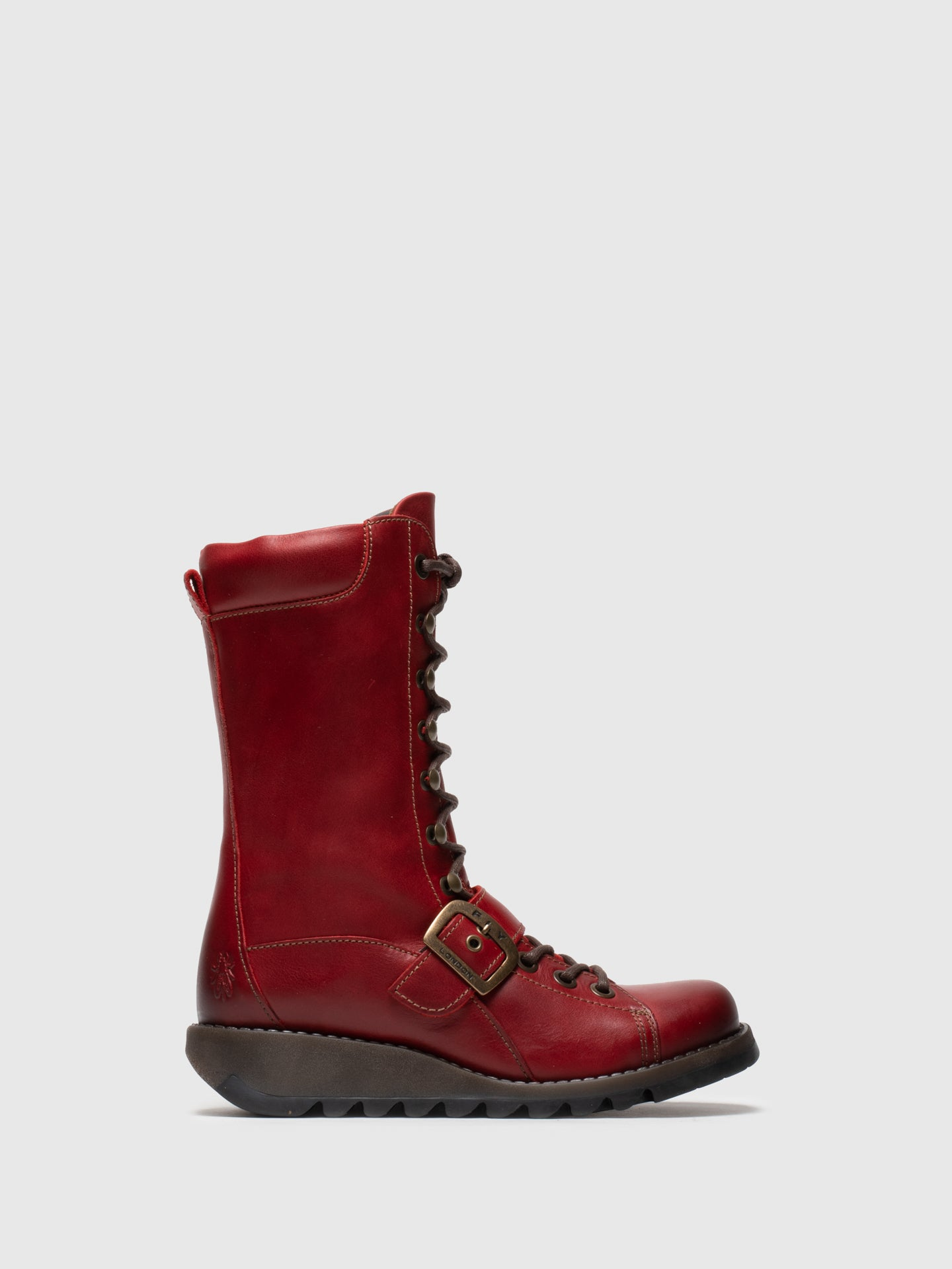 Fly London Red Lace-up Boots