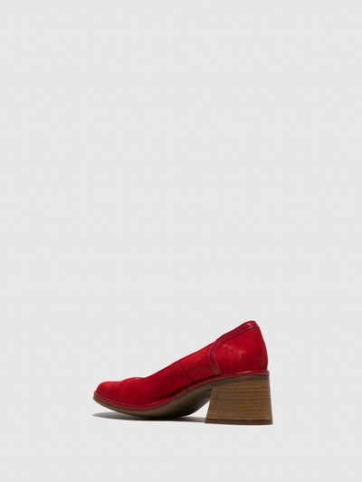 Fly London Red Chunky Heel Shoes