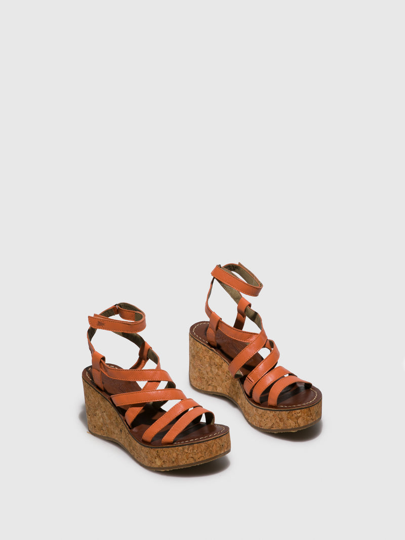 Fly London Firebrick Sling-Back Sandals