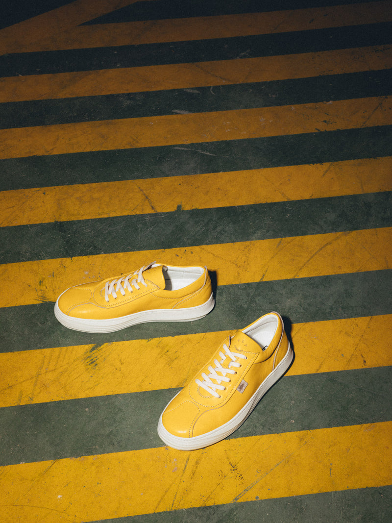 Yellow Lace-up Shoes