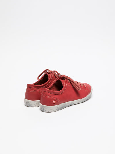 SOFTINOS Red Lace-up Sneakers