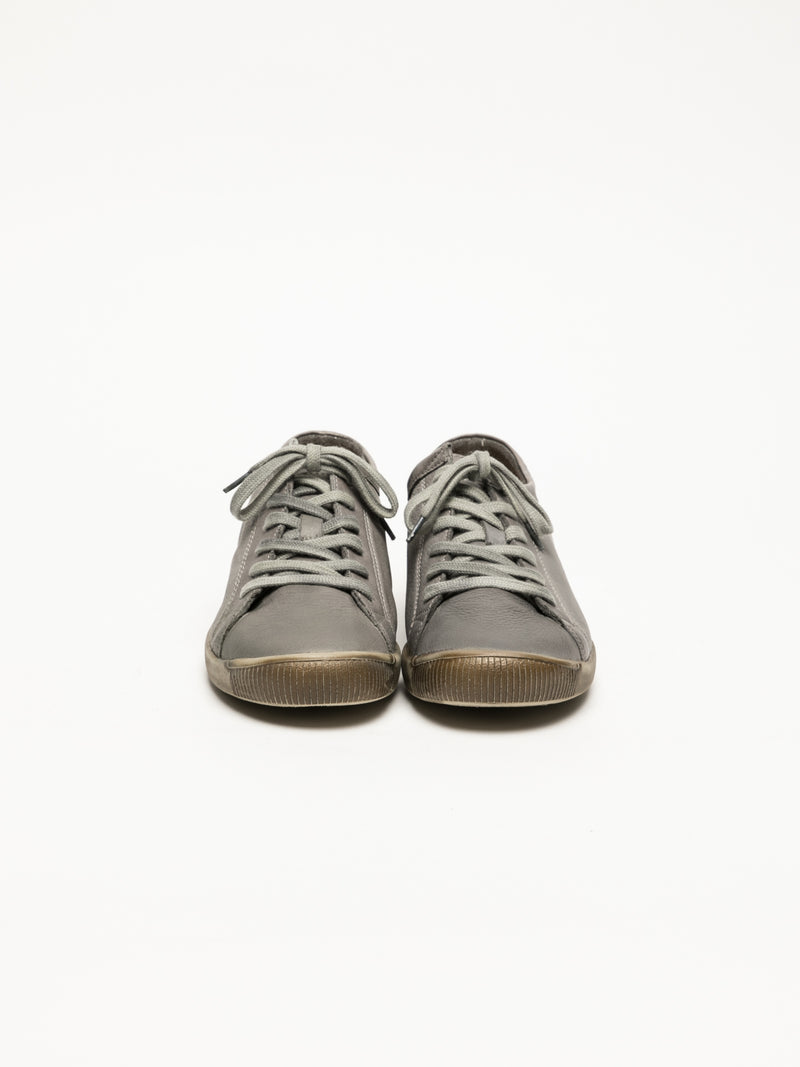 DarkGray Lace-up Trainers
