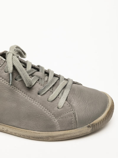 SOFTINOS DarkGray Lace-up Trainers