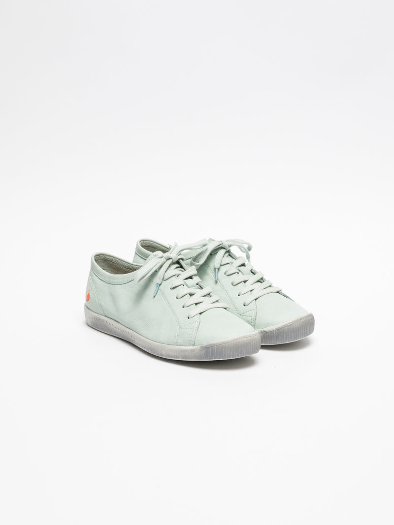 PaleGreen Lace-up Trainers