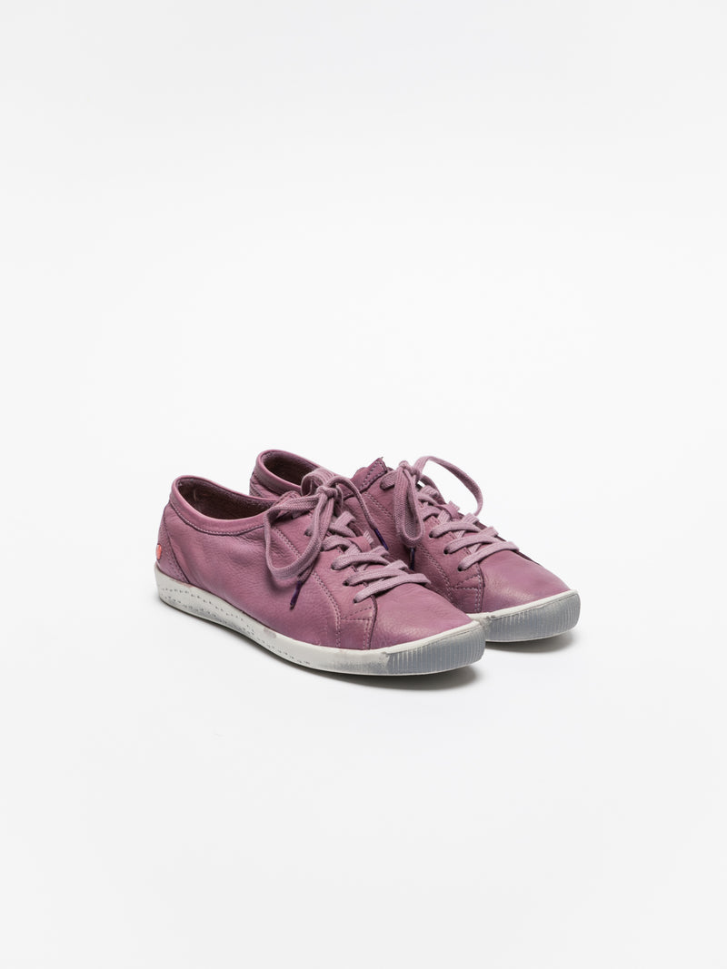Purple Lace-up Sneakers