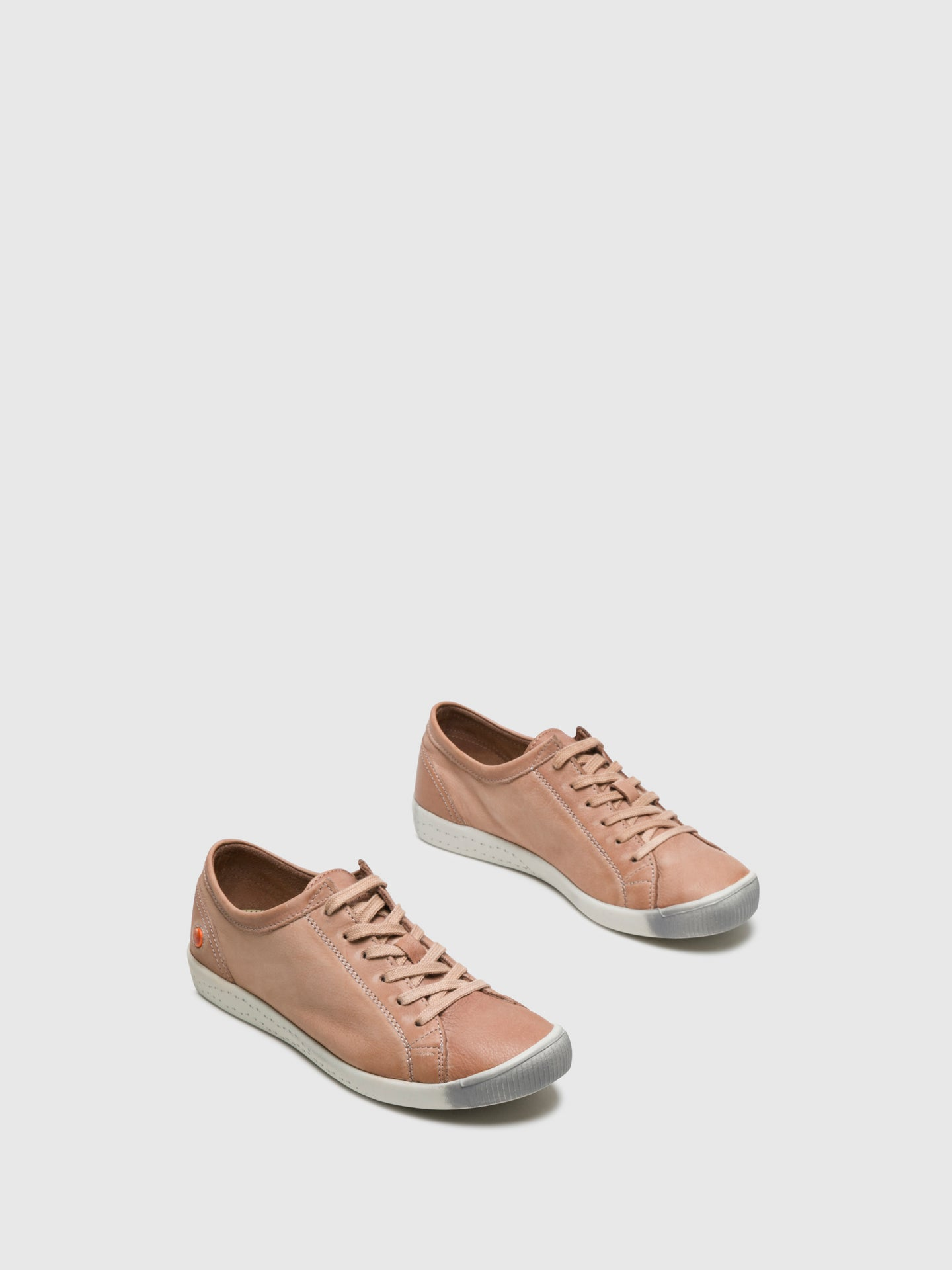 Softinos DarkSalmon Lace-up Sneakers