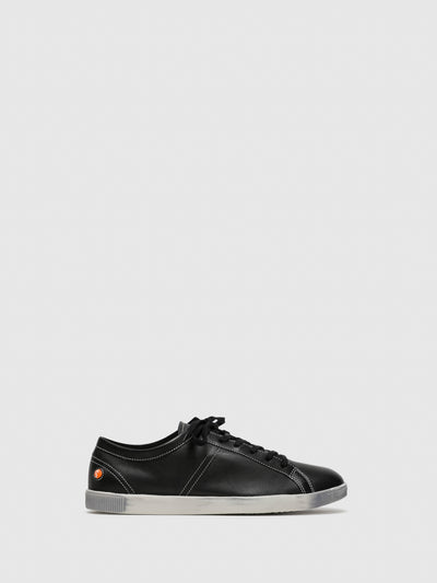 SOFTINOS Black Lace-up Sneakers
