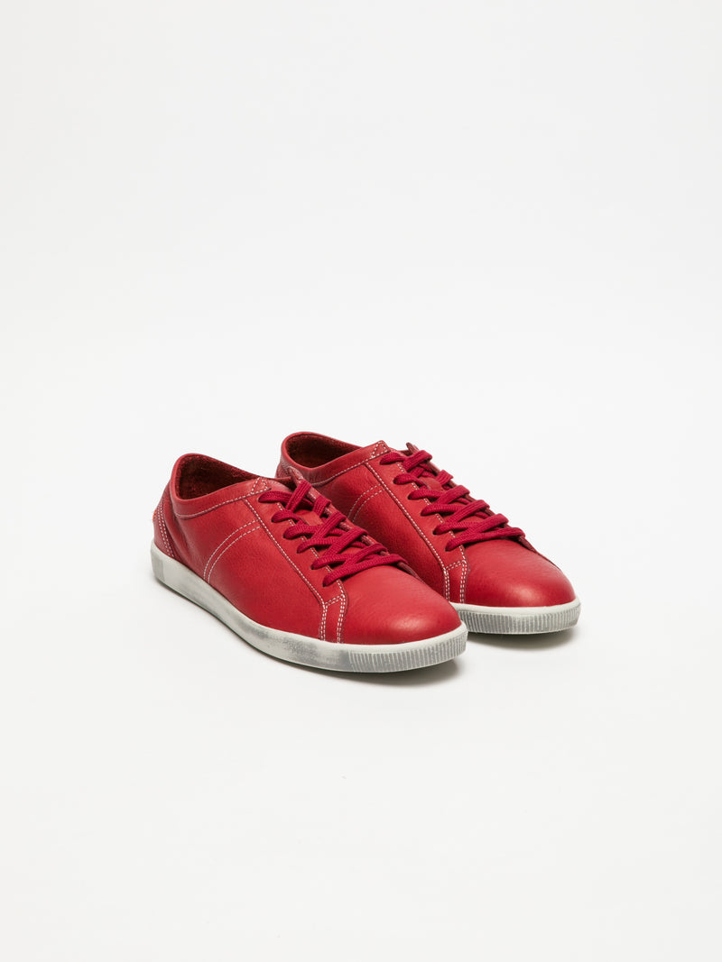 Red Lace-up Sneakers
