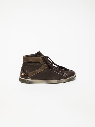 SOFTINOS Brown Hi-Top Sneakers