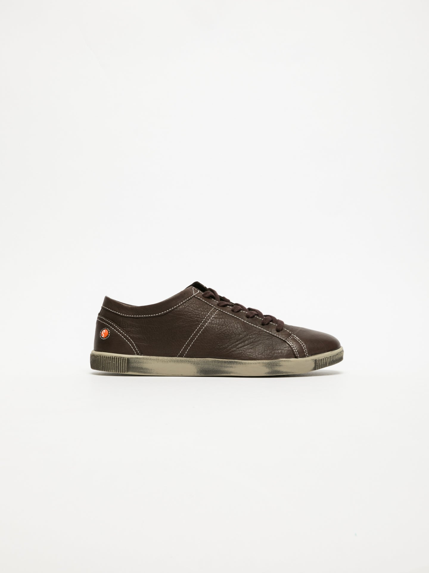 SOFTINOS Brown Lace-up Sneakers