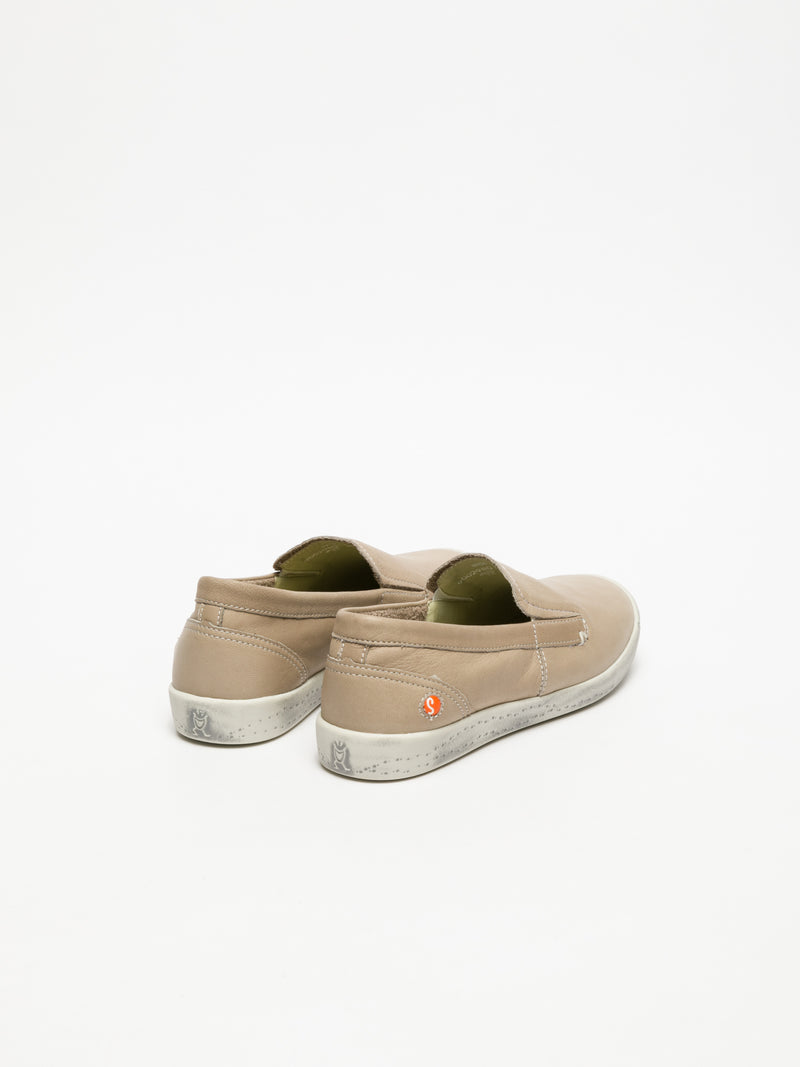Beige Slip-on Sneakers