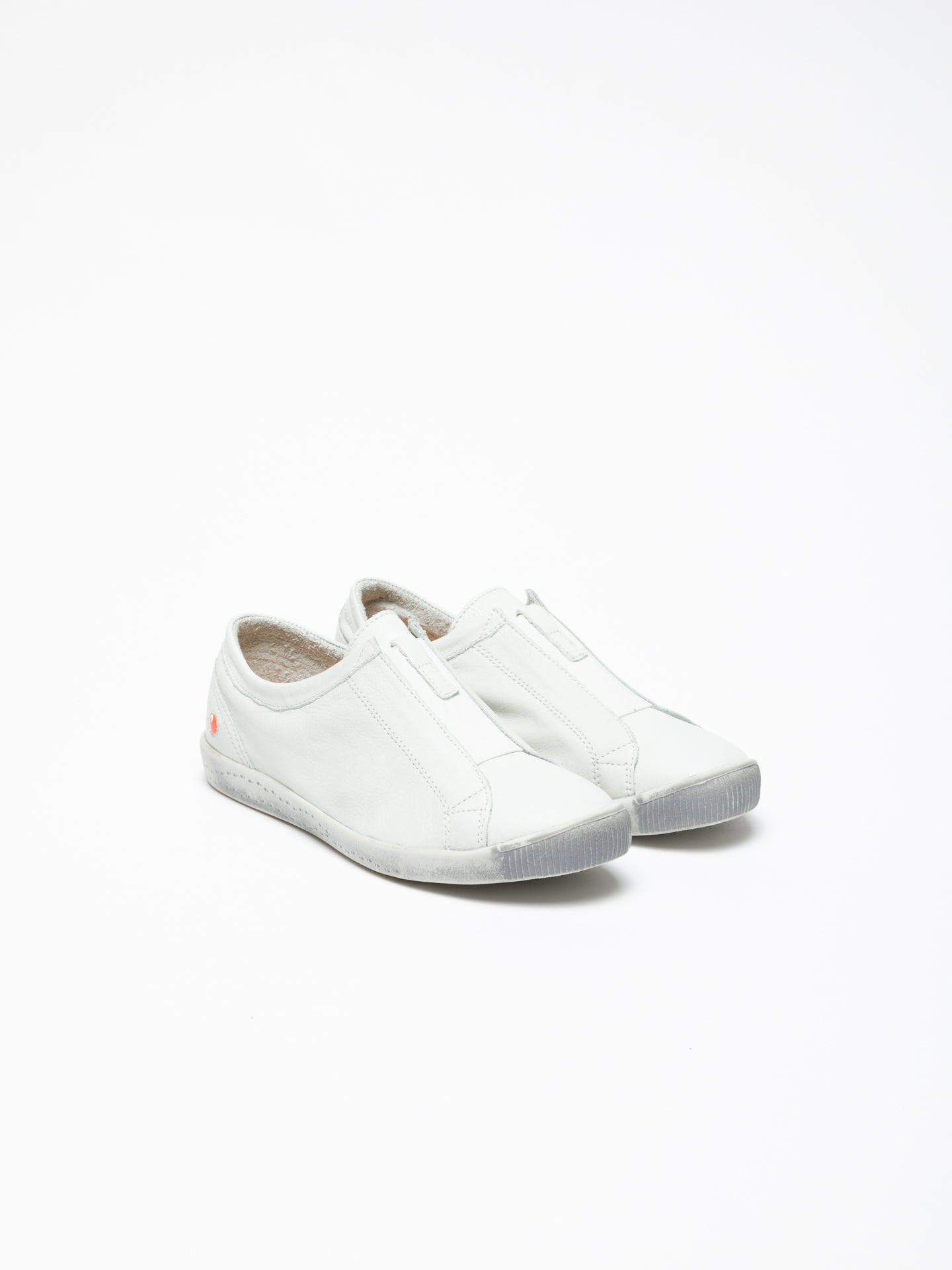 Softinos White Slip-on Sneakers