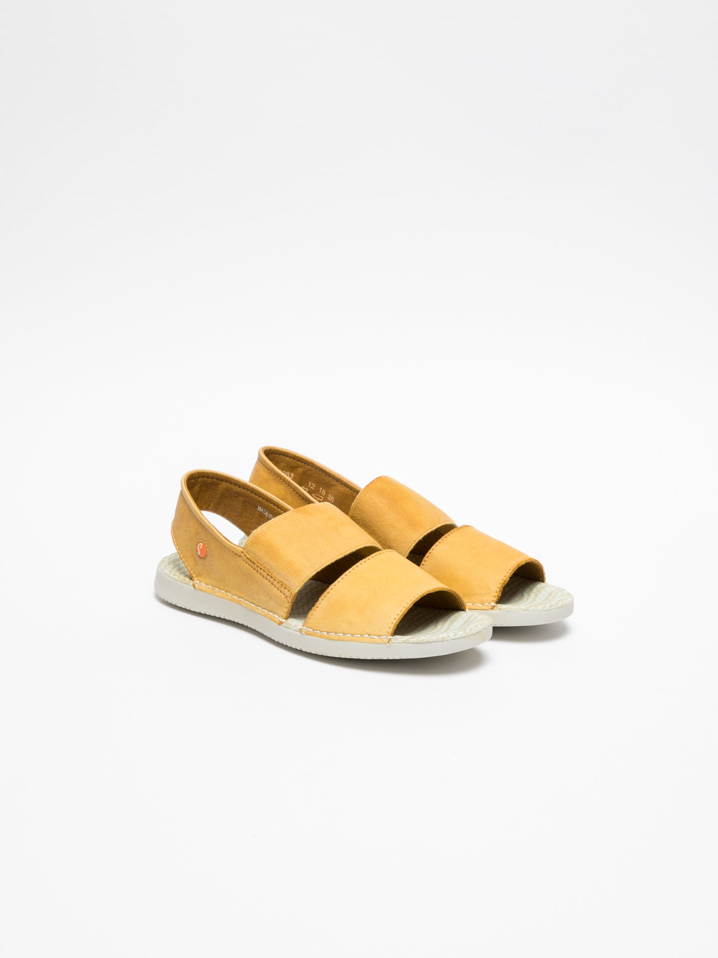 Softinos Yellow Sling-Back Sandals