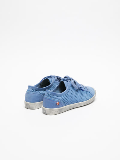 Softinos LightBlue Lace-up Sneakers